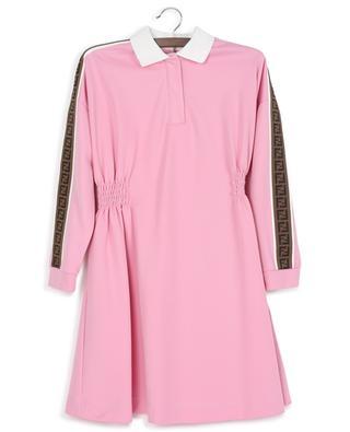 Gesmoktes Langarm-Kleid in Pink FENDI