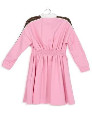 Pink smock long-sleeve dress FENDI