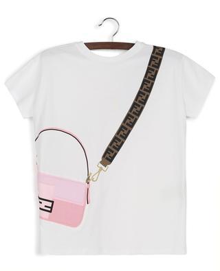 T-Shirt aus Baumwolle mit Trompe-l'Oeil-Effekt FENDI