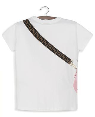 Trompe l'oeil effect cotton T-shirt FENDI