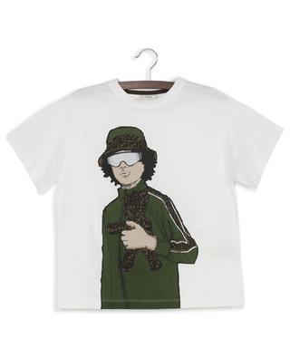 T-Shirt aus Baumwolle mit Print FENDI