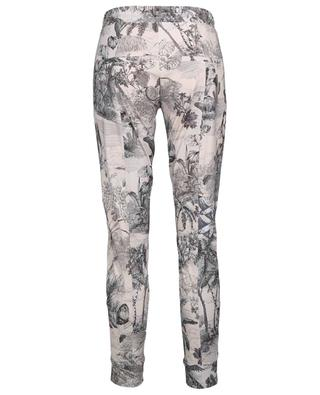 Jorden tapered track spirit trousers with jungle print CAMBIO