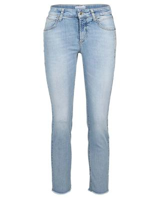 Pina crystal embellished organic cotton slim fit jeans CAMBIO