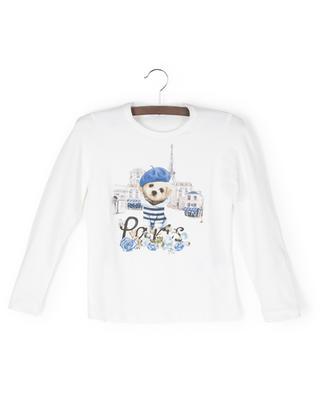 Paris dog print long-sleeved T-shirt MONNALISA