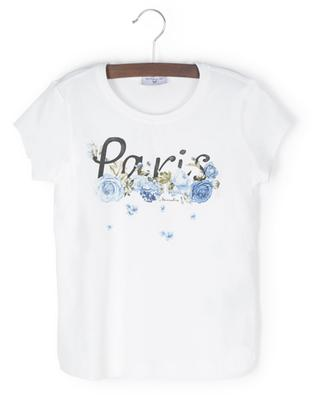 Kurzarm-T-Shirt mit Blütenprint Paris MONNALISA