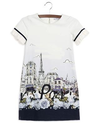 Paris printed short Milano jersey dress MONNALISA