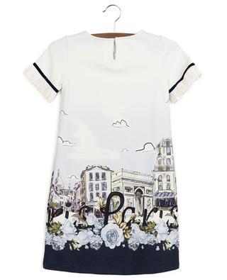 Kurzes Kleid aus Milano-Jersey mit Print Paris MONNALISA