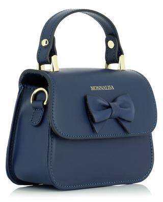 Handtasche aus Leder mit Dekoschleife MONNALISA