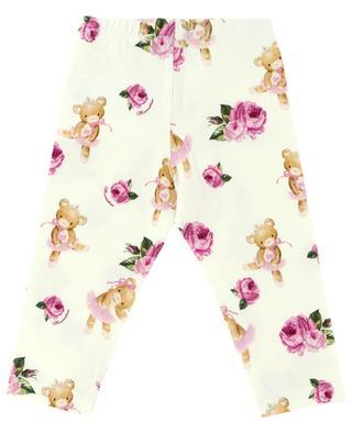 Teddy print cotton leggings MONNALISA