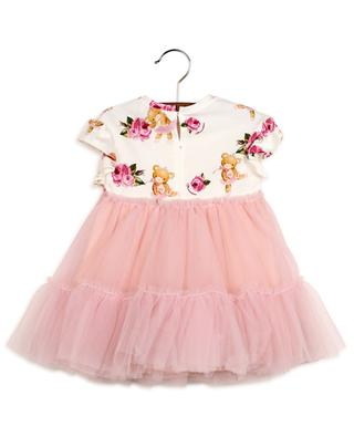 Teddy e Rosa jersey and tulle baby dress MONNALISA