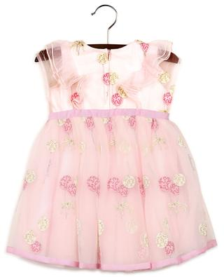 Baloon embroidered tulle baby dress MONNALISA