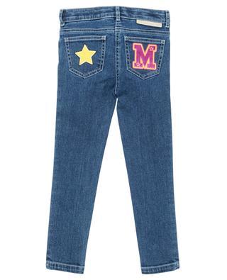 Varsity Badges embellished skinny fit jeans STELLA MCCARTNEY KIDS