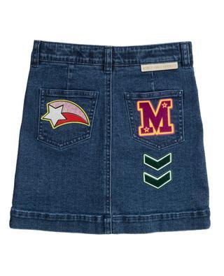 Jupe en jean boutonnée embellie Varsity Badges STELLA MCCARTNEY KIDS