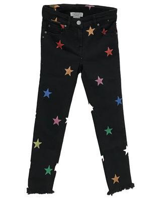 Skinny-Fit-Jeans mit Print Glitter Stars STELLA MCCARTNEY KIDS