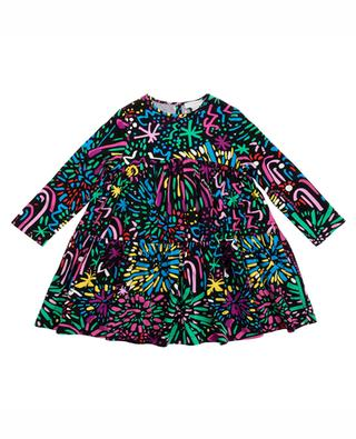 Fireworks printed viscose dress STELLA MCCARTNEY KIDS