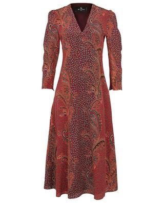 Robe midi évasée en soie imprimée paisley Suffolk ETRO