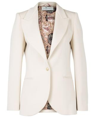 Bale cinched blazer in textured wool ETRO