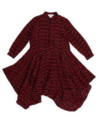 Langarm-Kleid mit Print ALL is LOVE Waves STELLA MCCARTNEY KIDS