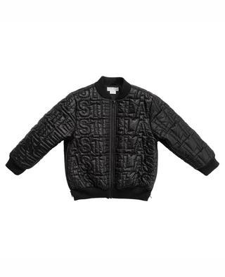 S T E L L A logo quilted puffer jacket STELLA MCCARTNEY KIDS