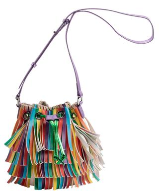 Bucket-Tasche aus buntem Kunstleder Fringes STELLA MCCARTNEY KIDS
