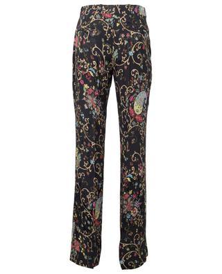 Pantalon en viscose et soie mélangés à imprimé paisley ETRO