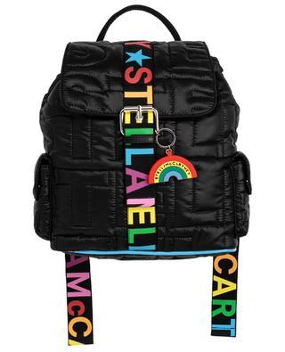 Rucksack aus gestepptem, recyceltem Nylon Logo Quilted Rainbow STELLA MCCARTNEY KIDS