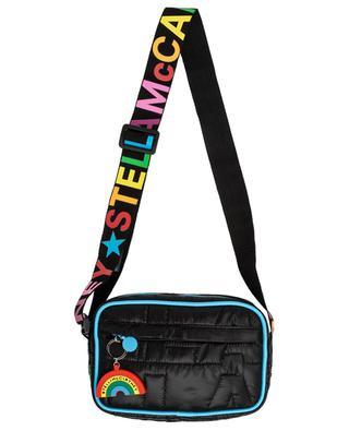 Schultertasche aus gestepptem Nylon Logo Quilted Rainbow STELLA MCCARTNEY KIDS