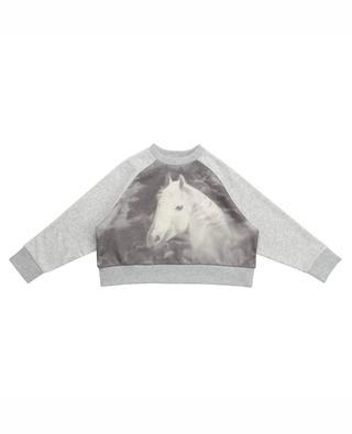 White Horse printed cotton sweatshirt STELLA MCCARTNEY KIDS