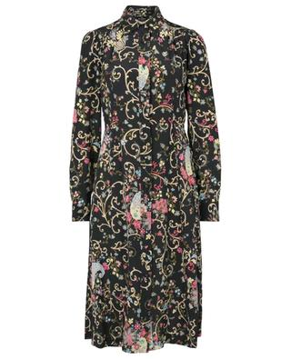 Robe chemise évasée en soie fleurie Fleuve ETRO