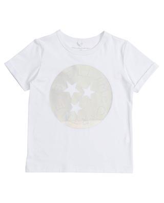 STELLA golden logo printed organic cotton T-shirt STELLA MCCARTNEY KIDS