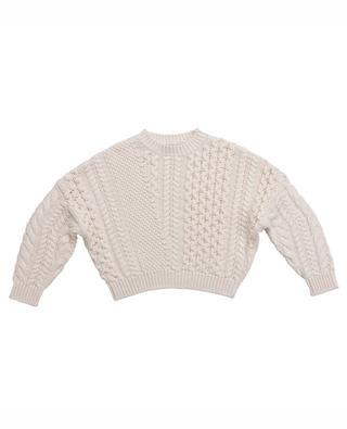 Oversized organic cotton and wool cable knit jumper STELLA MCCARTNEY KIDS