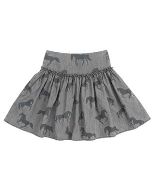 Bleached Horses printed chambray skirt STELLA MCCARTNEY KIDS