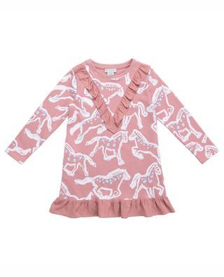 Sweatkleid mit Print und Rüschen Painted Horses STELLA MCCARTNEY KIDS