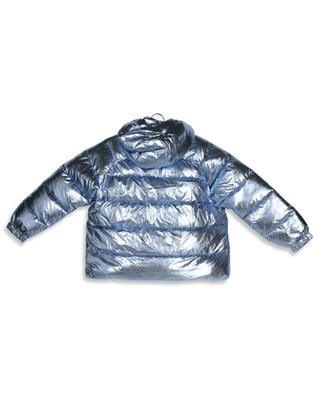 Foiled Puffer light blue oversize down jacket STELLA MCCARTNEY KIDS