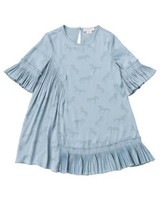 Jacquard Horses patterned asymmetrical A-line dress STELLA MCCARTNEY KIDS
