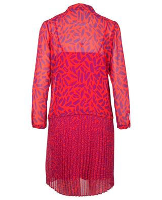 Energy printed georgette mini dress with pleats IBLUES