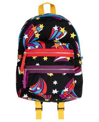 Rucksack aus recyceltem Nylon mit Print Shooting Stars STELLA MCCARTNEY KIDS