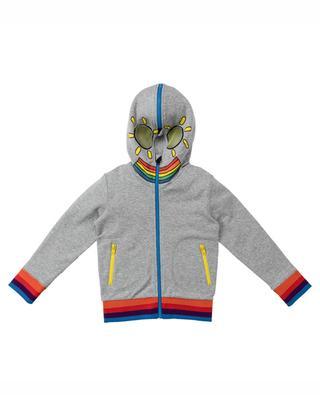 Sweat-shirt zippé à capuche Rainbow Monster STELLA MCCARTNEY KIDS