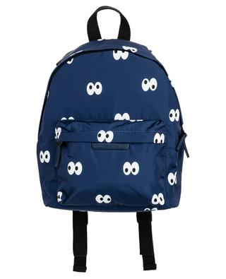 Cartoon Eyes printed recycled nylon backpack STELLA MCCARTNEY KIDS