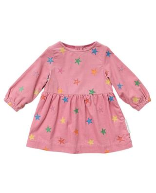 Kleid aus Kordsamt mit Print Glitter Stars STELLA MCCARTNEY KIDS