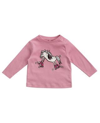 Skating Horse printed long-sleeved T-shirt STELLA MCCARTNEY KIDS