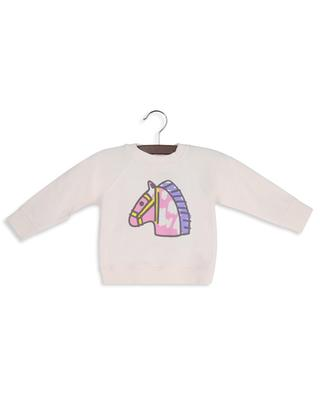 Horse printed crewneck sweatshirt STELLA MCCARTNEY KIDS