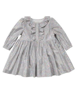Kleid aus buntem Lurex mit Rüschen STELLA MCCARTNEY KIDS