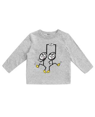 T-shirt à manches longues imprimé Dancing Notes STELLA MCCARTNEY KIDS