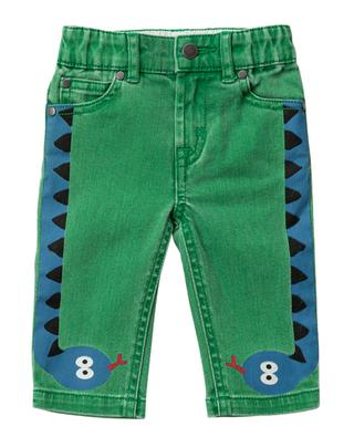 Grüne Jeans mit Print Snake STELLA MCCARTNEY KIDS