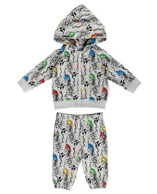 Zebra DJ printed heather grey tracksuit STELLA MCCARTNEY KIDS