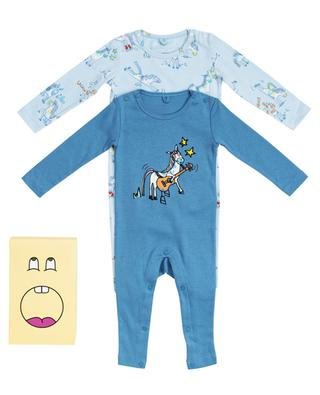 Horses Doodle gift set with two all-in-ones with print STELLA MCCARTNEY KIDS