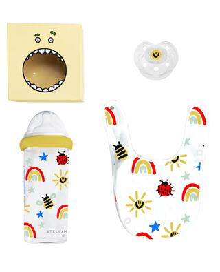 Baby gift box with printed baby bottle, dummy and bib STELLA MCCARTNEY KIDS
