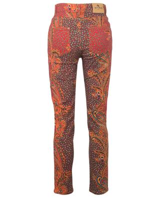 Skinny-Fit-Jeans mit hoher Taille und Bandanaprint ETRO