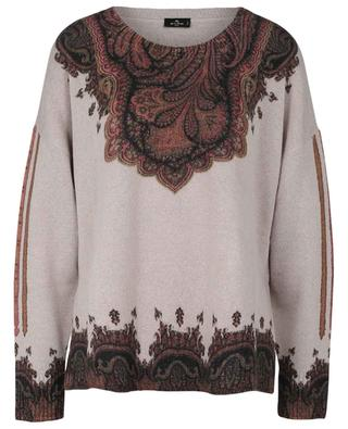 Paisley print wool and cashmere jumper ETRO